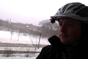 Me on a snowy Georgia Tech campus, January 28, 2014
